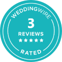 WeddingWire 5 star Rated